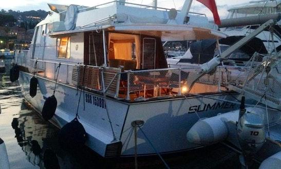 Italian Motor Yacht To Sleep Aboard In Maó