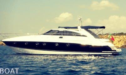 Charter 53' Princess Power Mega Yacht in Faro, Portugal