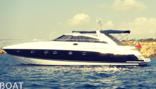 Charter 53' Princess Power Mega Yacht In Faro, Portugal