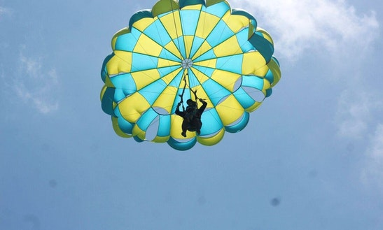 Enjoy Parasailing In Trou D'eau Douce, Flacq