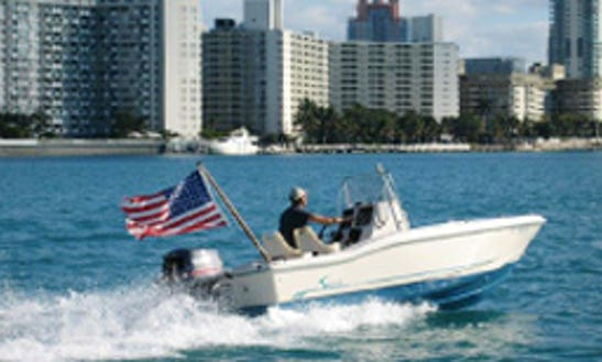 "Charter 18ft ""squiddy"" Scout Center Console In Miami Beach, Florida (with Captain Only)"