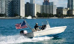 """Charter 18ft """"Squiddy"""" Scout Center Console In Miami Beach, Florida (With Captain Only)"""
