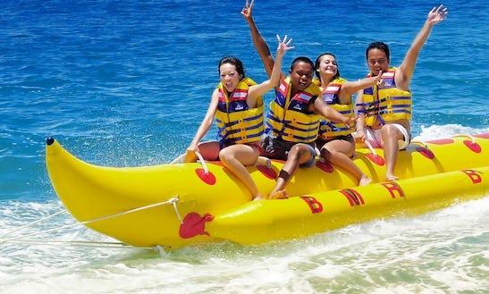 Enjoy Banana Boat Rides In Bali, Indonesia