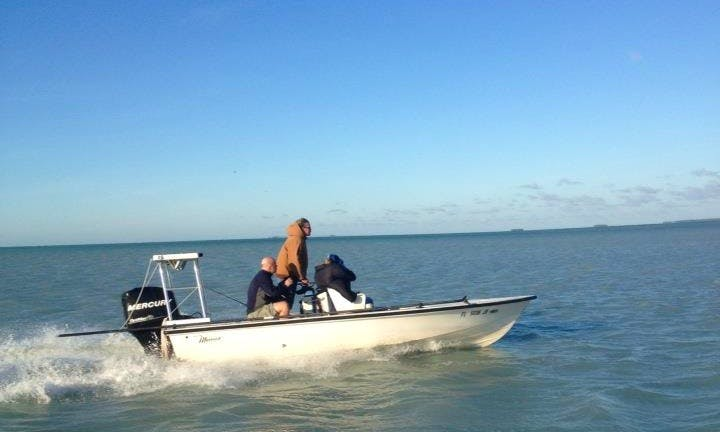 18ft Maverick Fishing Boat in Islamorada, Florida (only ½ days and Full days)