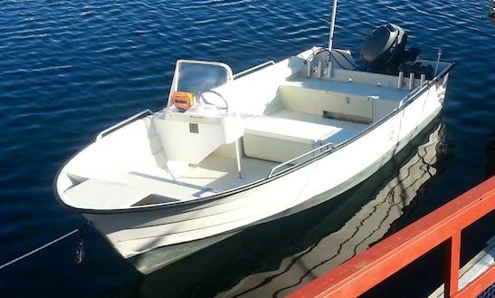 Enjoy Fishing In Oksvoll, Norway On Dinghy