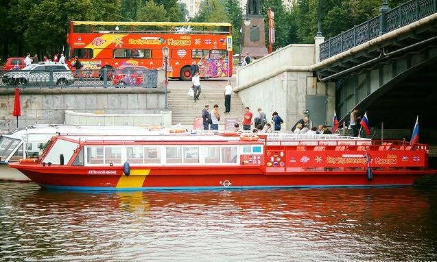 Charter Capital Passenger Boat in Moscow, Russia