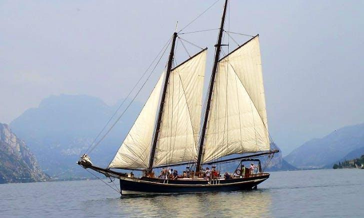 """Charter 79ft """"Siora Veronica"""" Schooner In Malcesine, Italy"""