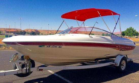 Rent The 20.5' Bayliner Capri Bowrider And Enjoy Lake Powell