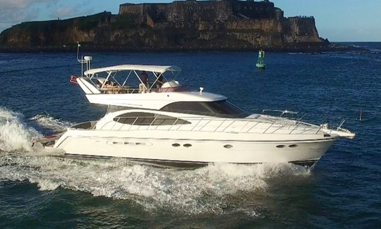 Captained Charter On 55' Dyna Luxury Power Yacht In San Juan, Puerto Rico