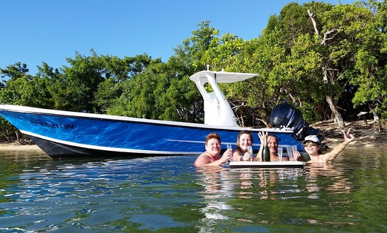 Enjoy Fishing In Baie Mahault, Guadeloupe On 23' Center Console