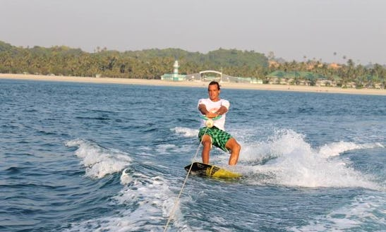 Wakeboarding Lessons And Rides At Ngwe Saung Beach In Ayeyarwaddy, Myanmar