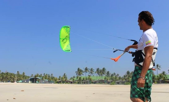 Enjoy Kitesurfing Rentals And Lessons At Ngwe Saung Beach In Ayeyarwaddy, Myanmar