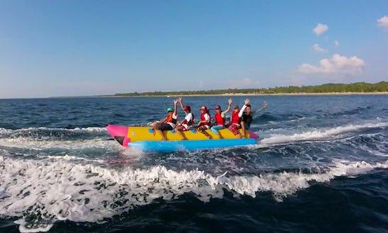 Enjoy Banana Rides At Ngwe Saung Beach In Ayeyarwaddy, Myanmar