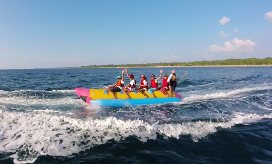 Enjoy Banana Rides At Ngwe Saung Beach In Ayeyarwaddy, Myanmar
