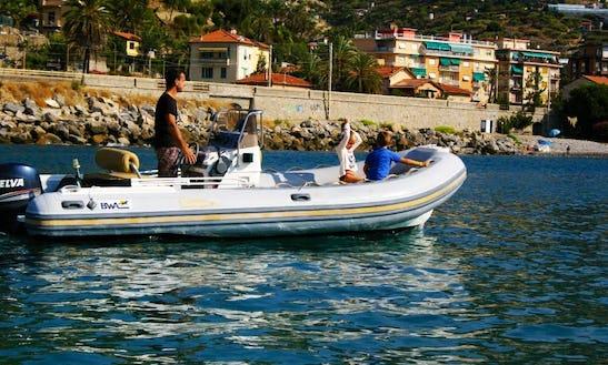 Rent 19' Bwa Five Fiftyrigid Inflatable Boat In Bordighera, Liguria