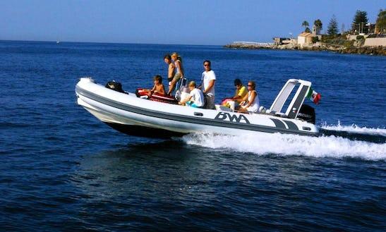 Rent 22' Bwa Six-fifty Rigid Inflatable Boat In Bordighera, Liguria