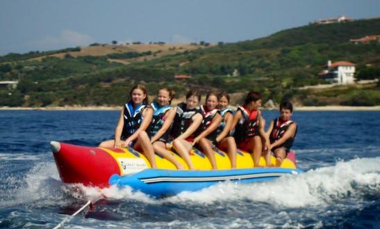 Enjoy Banana Rides In Ouranoupoli, Chalcidice