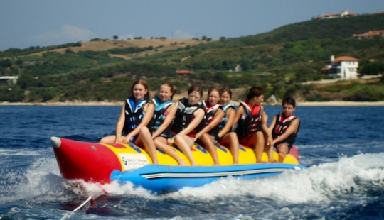 Enjoy Banana Rides In Ouranoupoli, Chalcidice