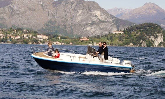 6 People Honda-Powered Center Console for Rent in Lierna, Lombardia