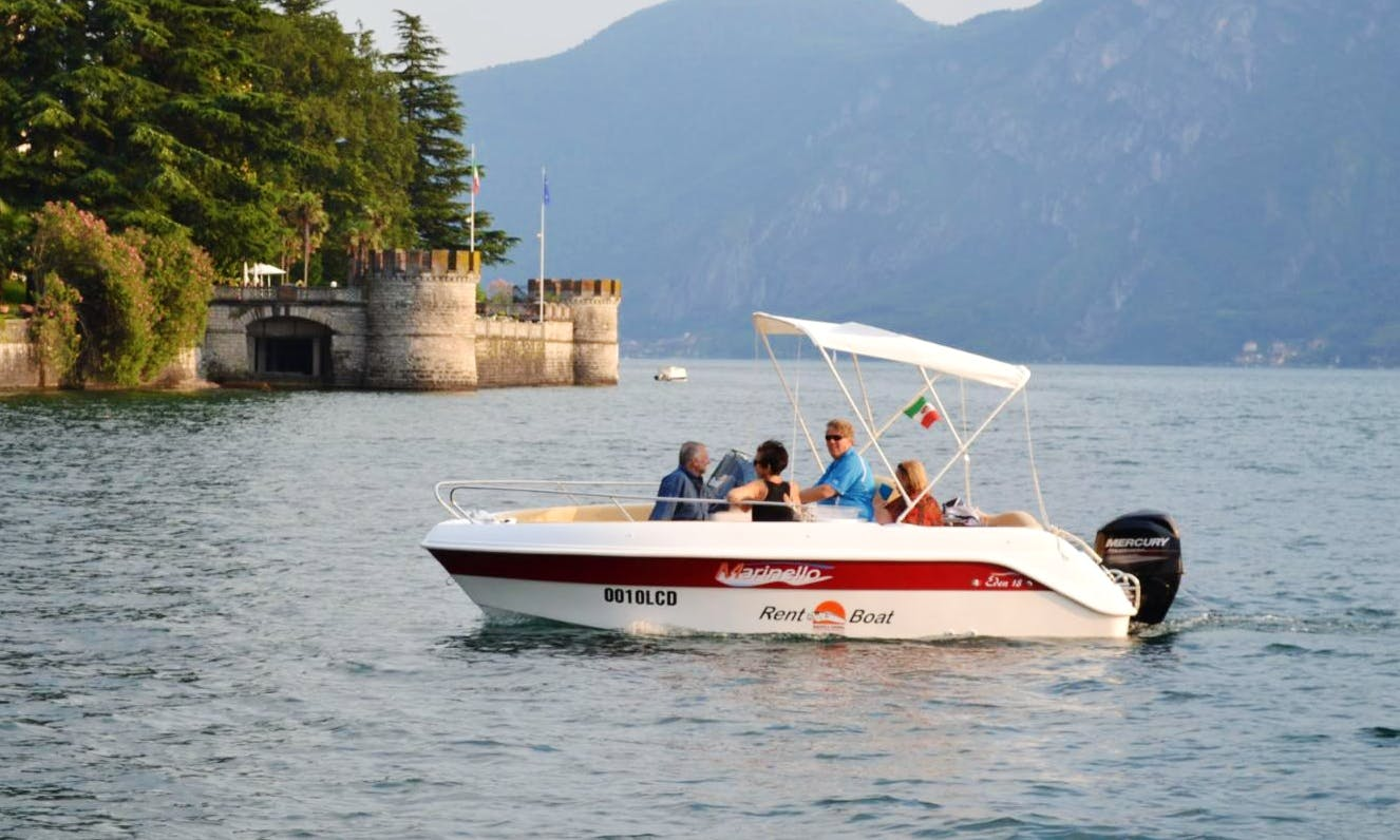 Rent Eden 18 Center Console in Lierna, Lombardia