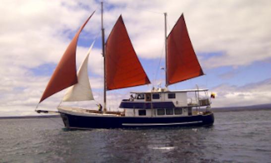 Sailing Yacht In Galapagos, Ecuador