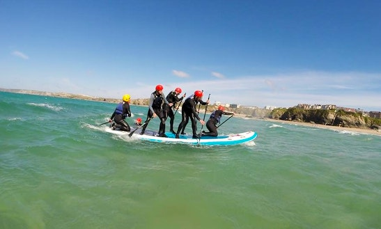 Enjoy Monster Stand Up Paddleboard Lessons In Newquay, Cornwall