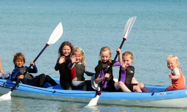 Bic Tobago Kayak for Rent with wet suit and life jacket in Balevullin, Scotland