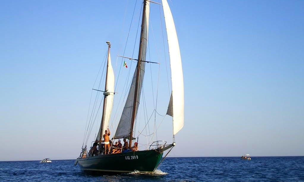 "Charter this 49ft ""Cassiopèe"" Sailing Vintage Ketch in Castro, Puglia"