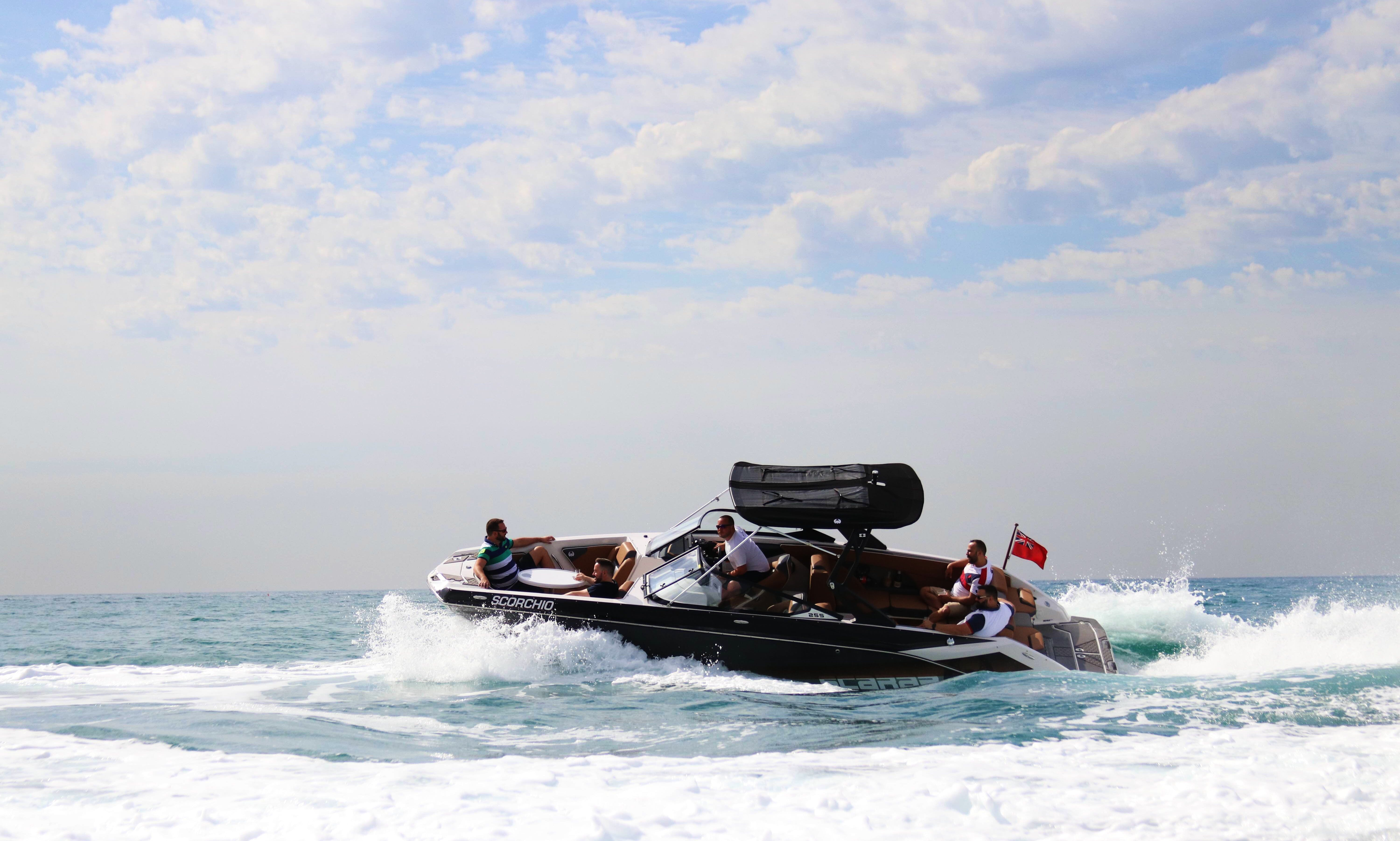 Scarab 255 Impulse HO Bowrider Boat Rental in Sitges, Spain
