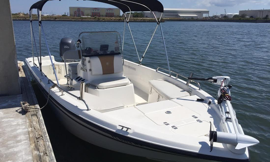 21' Century Awesome Center Console Fishing Bay Boat