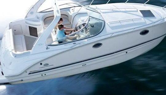 Spend A Relaxing Day On The Water With This Captained Motor Yacht!