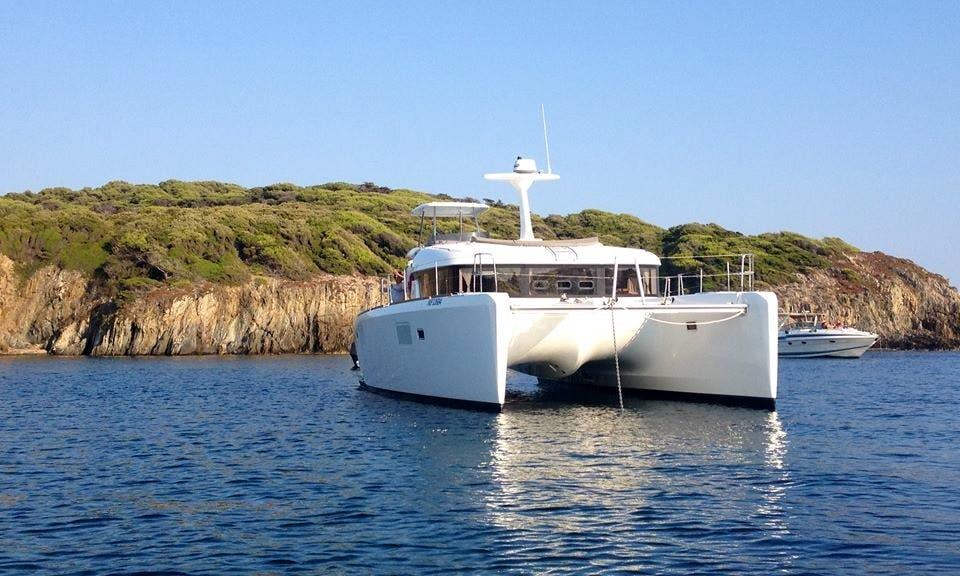 "Captained Cruises on 40ft ""Nikaia"" Sailing Catamaran on French Riviera"