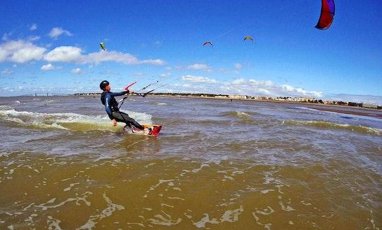Enjoy Kitesurfing In Pornichet, Pays De La Loire