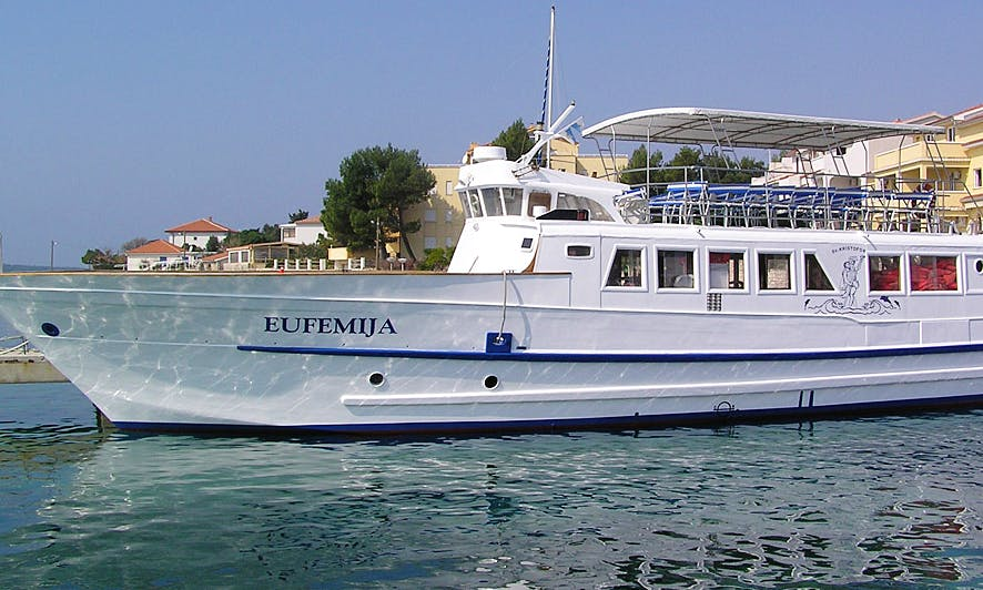 Enjoy Sightseeing in Rab, Croatia on 79' Passenger Boat
