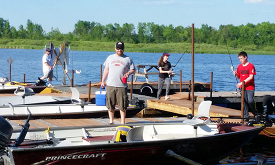 Princecraft Holiday Deluxe Jon Boat Rental In Lavigne, Ontario