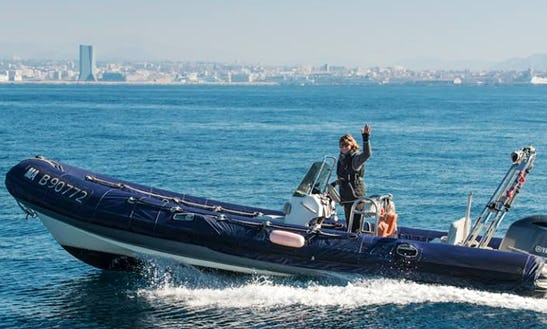 Charter A 24' Rigid Inflatable Boat In Marseille, France