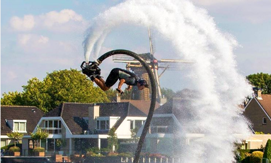Enjoy Flyboarding In Amsterdam, Netherlands
