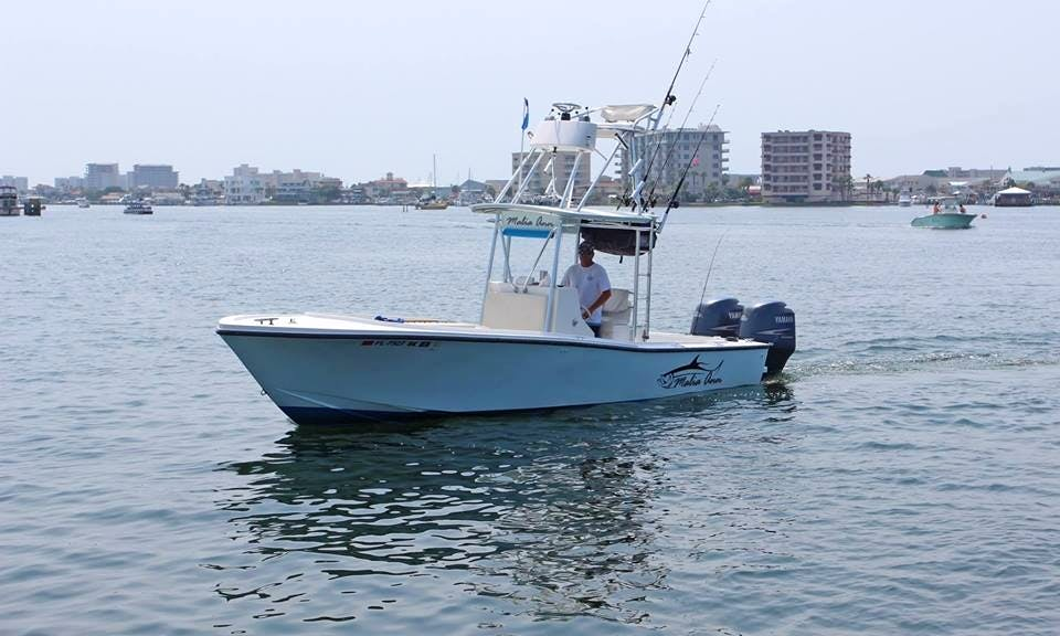"Destin Fishing Charter On 26ft ""Malia Ann"" Mako Boat With Captain Zach"
