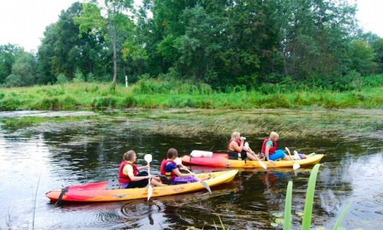 Enjoy Double Kayak Rentals In Daugavas Krāces, Latvia