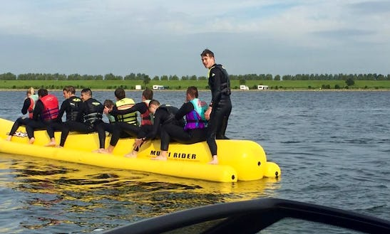 Enjoy Banana Boat Rides In Kortgene, Netherlands