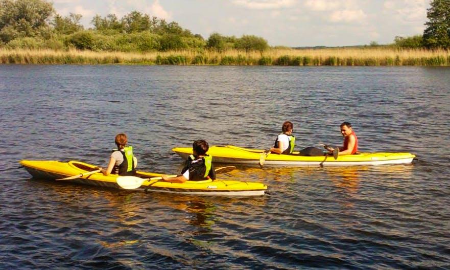 Double Kayak Rental in Kołbaskowo, Poland
