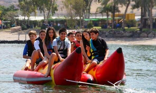 Fun filled Banana Boat Rides in Hazafon, Israel