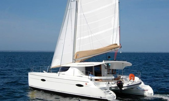 Charter 41' Fountaine Pajot Cruising Catamaran In Algarve, Portugal