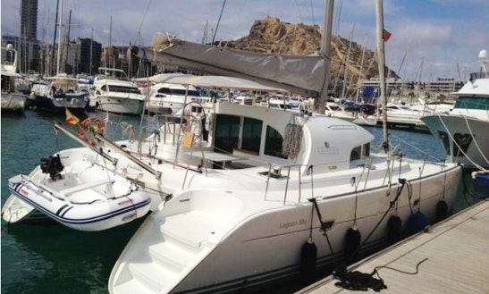 Charter 38' Lagoon Cruising Catamaran In Algarve, Portugal