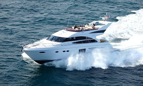 Charter 64' Princess Power Mega Yacht In Koh Keaw, Phuket