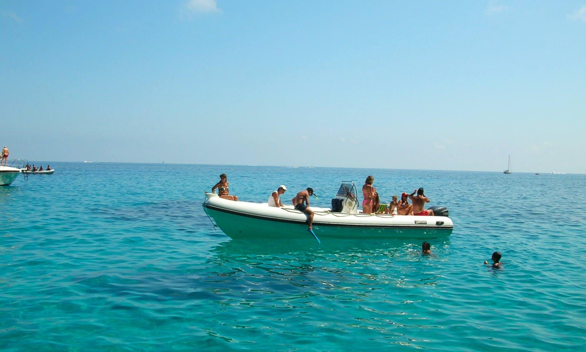 Rent a Rigid Inflatable Boat in Orosei, Sardegna For 12 Pax