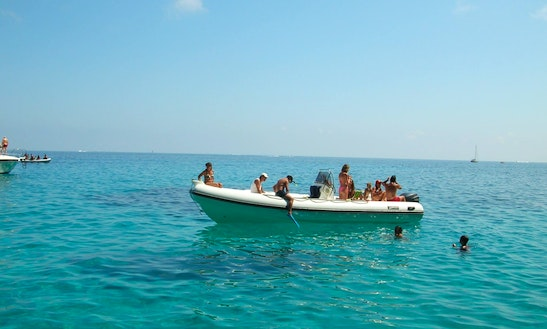 Rent A Rigid Inflatable Boat In Orosei, Sardegna For 12 Pax