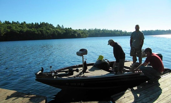 Rent 16' Fisher Bass Boat In Greater Madawaska, Ontario