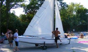 Rent 16' Buccaneer Sailing Dinghy in Balatonföldvár, Hungary