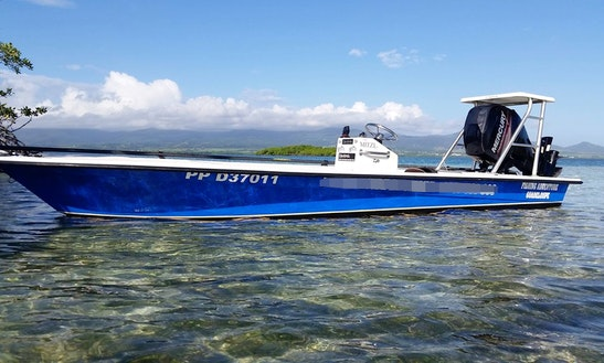 Enjoy Fishing In Baie Mahault, Guadeloupe On 17' Center Console
